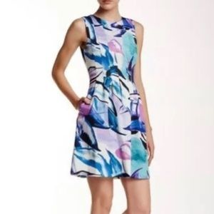 Vince Camuto multi color fit & flare dress